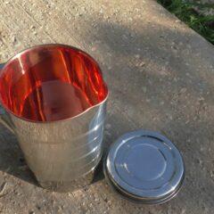 קנקן נירוסטה-נחושת מהודר 1 ליטר