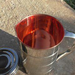 קנקן נירוסטה-נחושת מהודר 1.5 ליטר